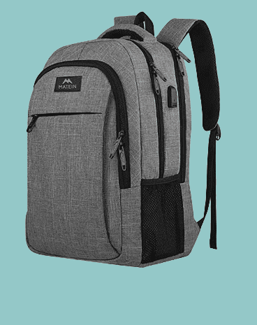 Travel Laptop Backpack, Business Anti Theft Slim Durable Laptops Backpack with USB Charging Port, Water Resistant College School Computer Bag, Gift for Men Fits 15.6 Inch Notebook, Grey. amazon